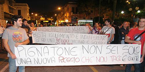 ReggioNonTace, solidarietà a Pignatone